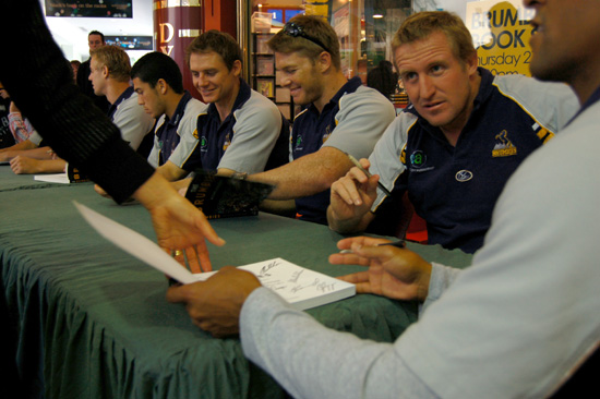 Brumbies book signing