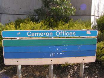 Cameron offices sign